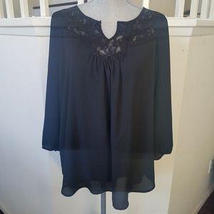 Lauren Conrad Long Sleeve Lace Blouse